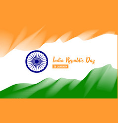 stylized flag of india poster day of the republic vector image