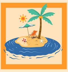 summer island holiday vector image