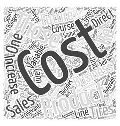 Types of Costs Word Cloud Concept vector