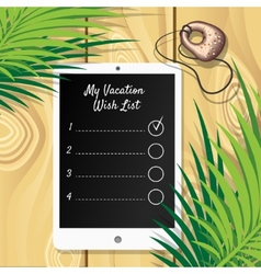 Vacation Wish List vector