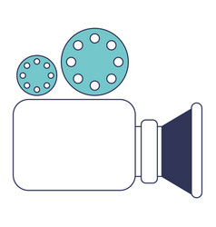 video camera icon in blue color sections vector image