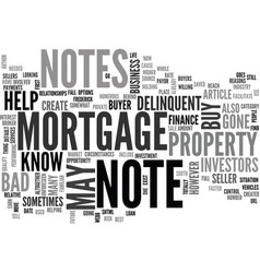 What you may not know about your mortgage note vector