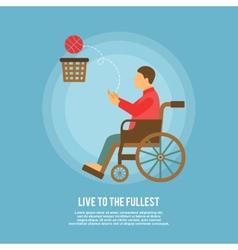 Wheelchair basketball poster vector