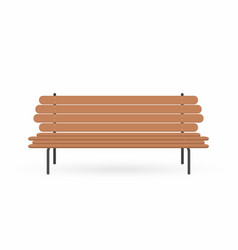 wooden bench street brown bench isolated on white vector image