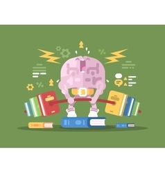 Brain lifting weight vector image
