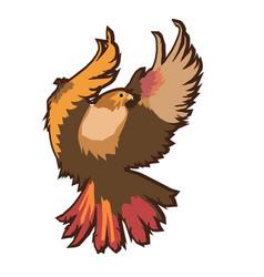 eagle emblem isolated on white vector image