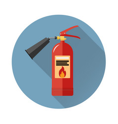 fire extinguisher icon in flat style vector image