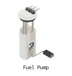 fuel pump icon isometric 3d style vector image