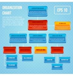 Organizational chart 3d concept vector image vector image