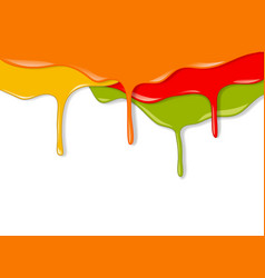 paint dripping vector image vector image