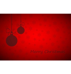 Simple red merry christmas background vector image