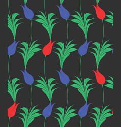 Turkish tulip seamles pattern vector