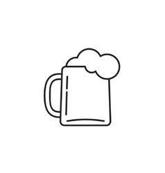 Beer glass icon isolated on white vector image