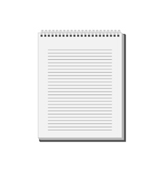 Blank Notepad Notebook with white lined pages vector image