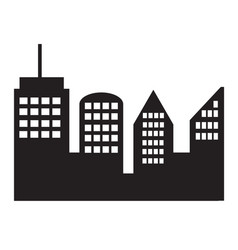 city icon on white background vector image vector image