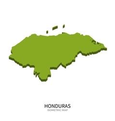 Isometric map of honduras detailed vector