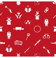 magician and magic theme set of icons seamless red vector image