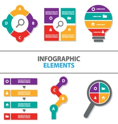 Colorful Infographic elements flat design set vector image vector image
