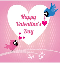 Lovers birds Happy valentines vector image vector image