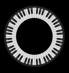 piano keys circular for creative design on black vector image