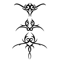 tribal wings set vector image vector image