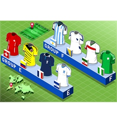 Isometric nations groups for soccer world cup vector
