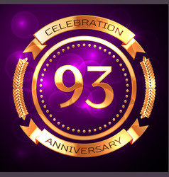 ninety three years anniversary celebration with vector image