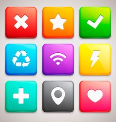 Set of Icons on colorful backgrounds vector image vector image