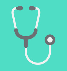 stethoscope flat icon medicine vector image