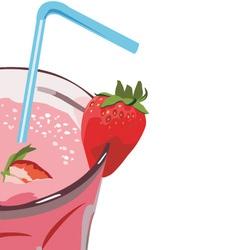 strawberry milkshakes vector image vector image
