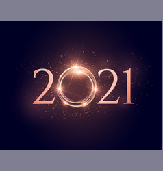 2021 shiny sparkling new year glowing background vector