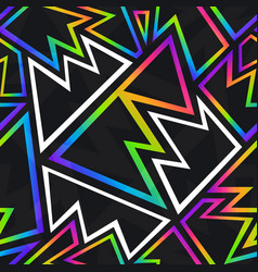 abstract neon geometric seamless pattern vector image