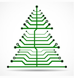 abstract technology colorful christmas tree vector image