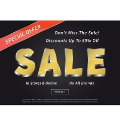 Advertising poster Sale Special Offer vector image
