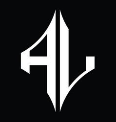 Al logo monogram with diamond shape design vector