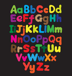 Alphabet bubble colored hand drawing vector