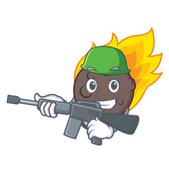 Army meteorite character cartoon style vector