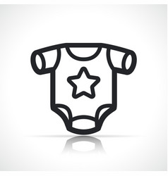 Baby clothing icon isolated vector