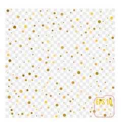 Background with scattered gold confetti isolated vector