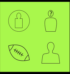 Basic content simple linear outline icon set vector