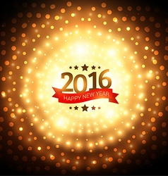 beautiful lights happy new year greeting vector image