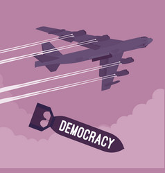 bomber and democracy bombing vector image