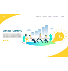 brainstorming website landing page design vector image