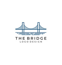 bridge logo vector image