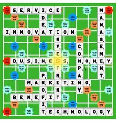 Business scrabble vector image