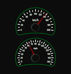 car speedometer set vector image