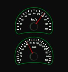 Car speedometer set vector