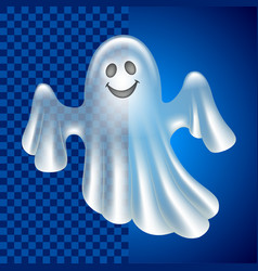 cartoon cute ghost isolated on dark vector image