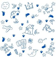 Children toys doodle art vector