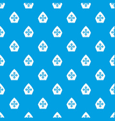 Christian hat pattern seamless blue vector